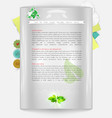 modern one-page website vector image vector image