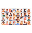 people avatars set modern head portraits vector image vector image
