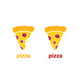 pepperoni pizza slice icons vector image vector image