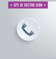 phone symbol icon on gray shaded background vector image vector image