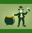 poster happy st patrick s day vector image