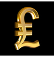 Pound sign on black vector image vector image