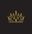 queen crown royal gold headdress king golden vector image