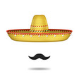 realistic 3d detailed mexican sombrero hat and vector image vector image