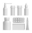 realistic medical bottle mock up set vector image vector image