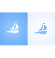 Sailboat on ocean wave vector image vector image
