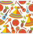 seamless pattern on white background mexican vector image vector image
