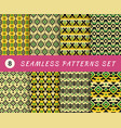 seamless patterns set with endless mexican vector image vector image