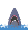 shark in the sea vector image vector image