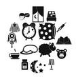 sleep icons set simple style vector image