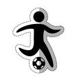 soccer athlete silhouette icon vector image vector image