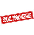 social bookmarking square stamp vector image vector image