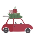 Spesial christmas delivery vector image vector image