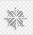 spider on web white icon vector image vector image