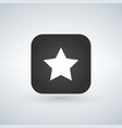 star favorite sign web icon on rounded square app vector image