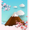 travel postcard and poster of japan with fuji vector image