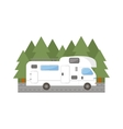 Travel trailer truck car vector image