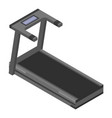 treadmill machine icon isometric style vector image