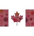 Vintage Canada flag 3 vector image vector image