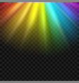 creative of rainbow glare vector image