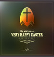 dark green background with a happy easter text vector image
