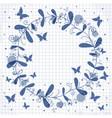 cute frame floral wreath vector image