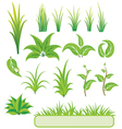 green elements for design vector image