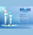 packing of cosmetic after shave cream and shaving vector image