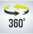 360 degrees view sign icon isolated on modern vector image vector image