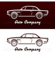 abstract retro car design vector image vector image