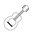 acoustic guitar music instrument in black and vector image