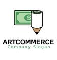 Art commerce logo vector image vector image