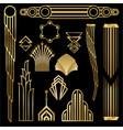 art decoart nuvo diy golden black elegant set of vector image vector image