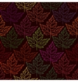 Autumn seamless leaf pattern 2 vector image vector image