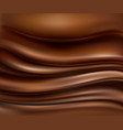 background with flowing hot chocolate waves vector image vector image