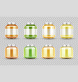 bafood jars set glass puree bottles with cap vector image