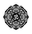 Black and white henna tatoo mandala OM vector image