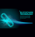 blockchain link web chain internet vector image vector image
