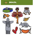 brazil tourism travel landmarks and famous vector image