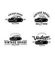 car vintage logo vector image