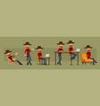cartoon redhead lumberjack character set vector image vector image