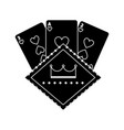 casino poker board light cards gamble symbol vector image