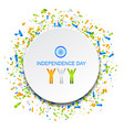 celebration card for independence day of india vector image vector image