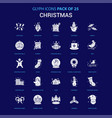 christmas white icon over blue background 25 icon vector image