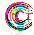Colorful Font - Letter c vector image vector image