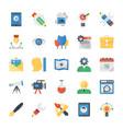 creative process flat icons set vector image