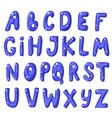 cute cartoon english blue alphabet vector image vector image