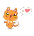 cute ginger cat vector image vector image