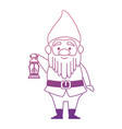 cute gnome with miner lamp character vector image vector image