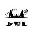 decorative monogram split letter graphic design vector image vector image